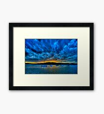 Blue Storm - Newport - The HDR Experience Framed Print