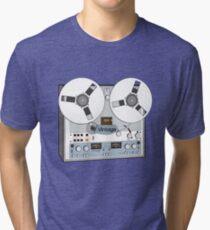 Reel Vintage Tape Deck Tri-blend T-Shirt