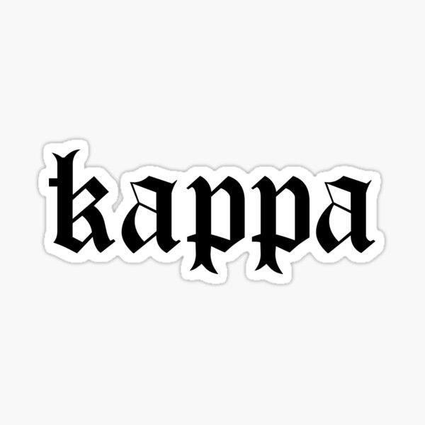 kappa gothic Sticker