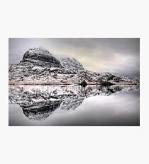Suilven Winter Reflections Photographic Print
