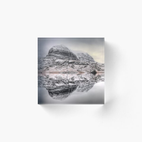 Suilven Winter Reflections Acrylic Block