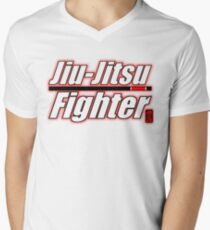 BJJ Black Belt Jiu Jitsu Fighter Men's V-Neck T-Shirt