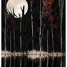 Moon and Red Trees by Mary Ann Reilly