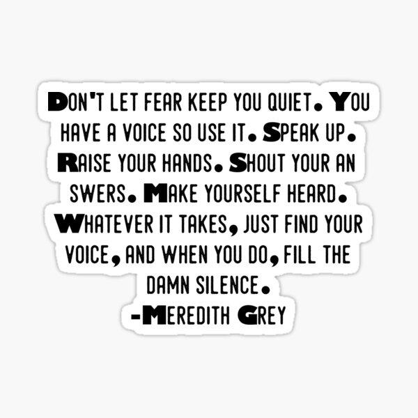 Meredith Gray Pegatina
