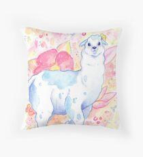 Cute Llama Illustration - Watercolour Animals Throw Pillow