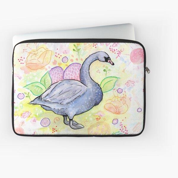 Mr. Swan the Gardener Laptop Sleeve