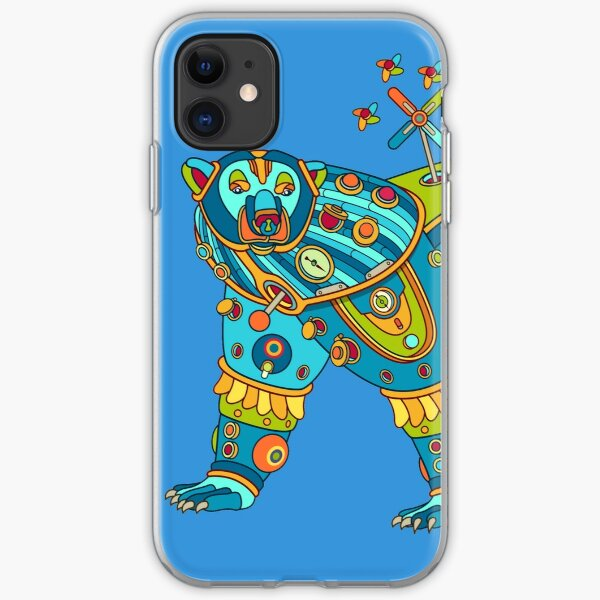 Polar Bear, cool art from the AlphaPod Collection iPhone Soft Case