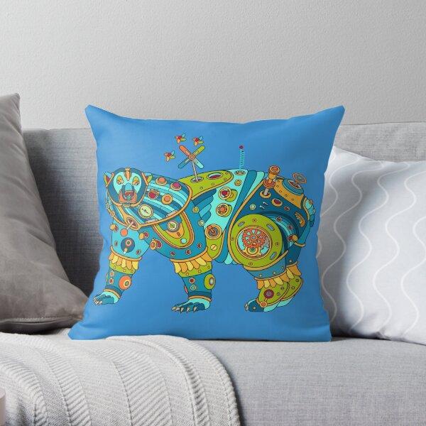 Polar Bear, cool art from the AlphaPod Collection Throw Pillow