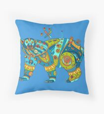 Polar Bear, cool art from the AlphaPod Collection Throw Pillow