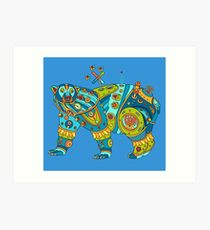 Polar Bear, cool art from the AlphaPod Collection Art Print