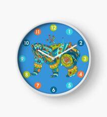 Polar Bear, cool art from the AlphaPod Collection Clock