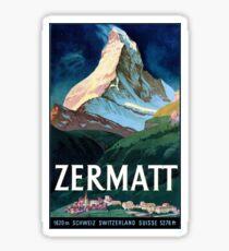 Vintage Zermatt Swizerland Matterhorn Travel Sticker