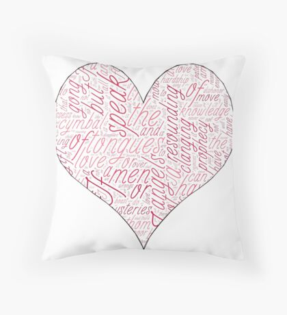 1 Corinthians 13 LOVE Throw Pillow