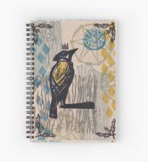 Hello Blue Jay The Garden Prince Spiral Notebook