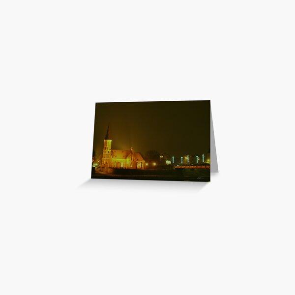 KAUNAS at NIGHT Greeting Card