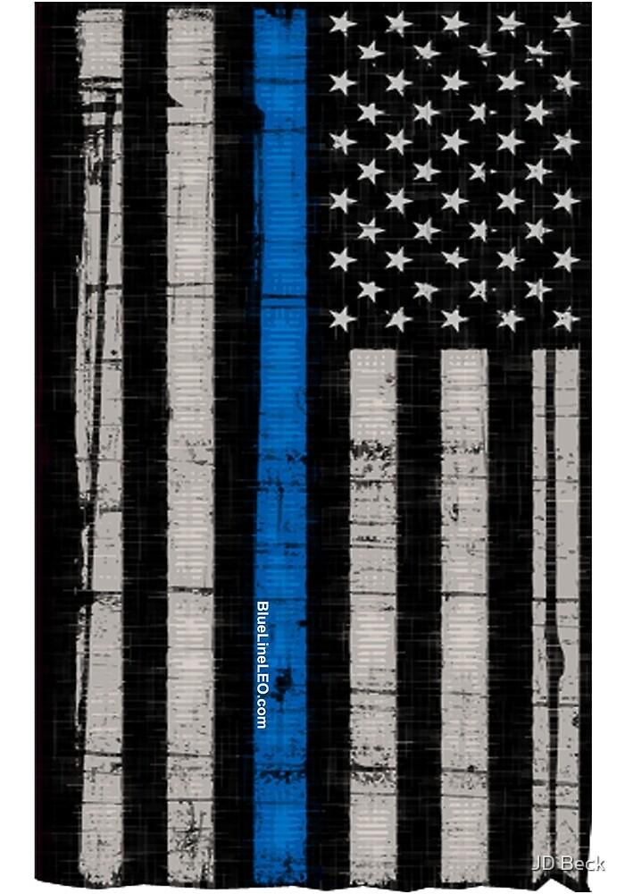 Police blue line Flag by BlueLine LEO