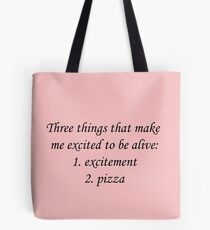 Bachelor Excitement Quote Tote Bag