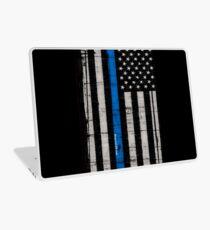 Vinilo para portátil Bandera azul de policía