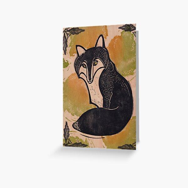 Foxy Fox Greeting Card