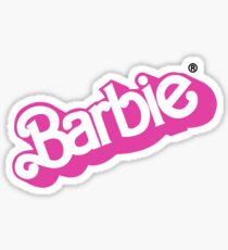 Vintage Barbie logo sticker Sticker