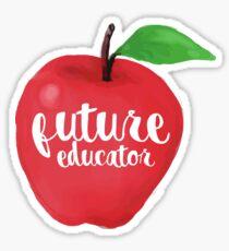 Future Educator Apple Sticker