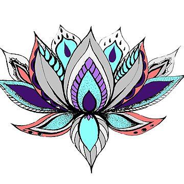 Mandala Lotus Flower by CraftyRedFox