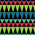 Psychedelic Folk Geometric Pattern by Jason Castillo