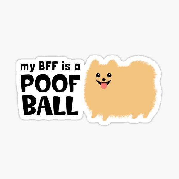 My BFF is a Poof Ball Pomeranian Sticker
