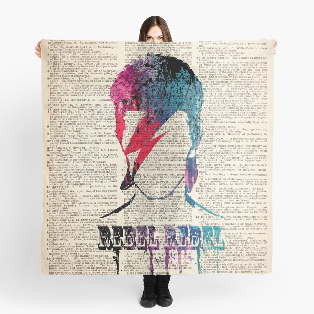 REBEL REBEL on dictionary page #BR Scarf