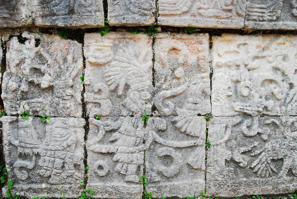 mayan graffiti by Stephen Beyer
