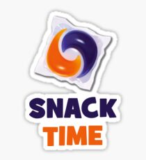 Tide Pod Shirt Meme - Snack Time Sticker