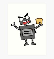 angry zombie robot toaster Art Print
