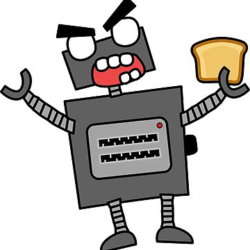 angry zombie robot toaster by shortstack