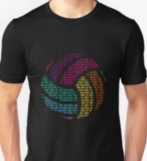 Colorful Volleyball Words Volleyball Player Unisex T-Shirt