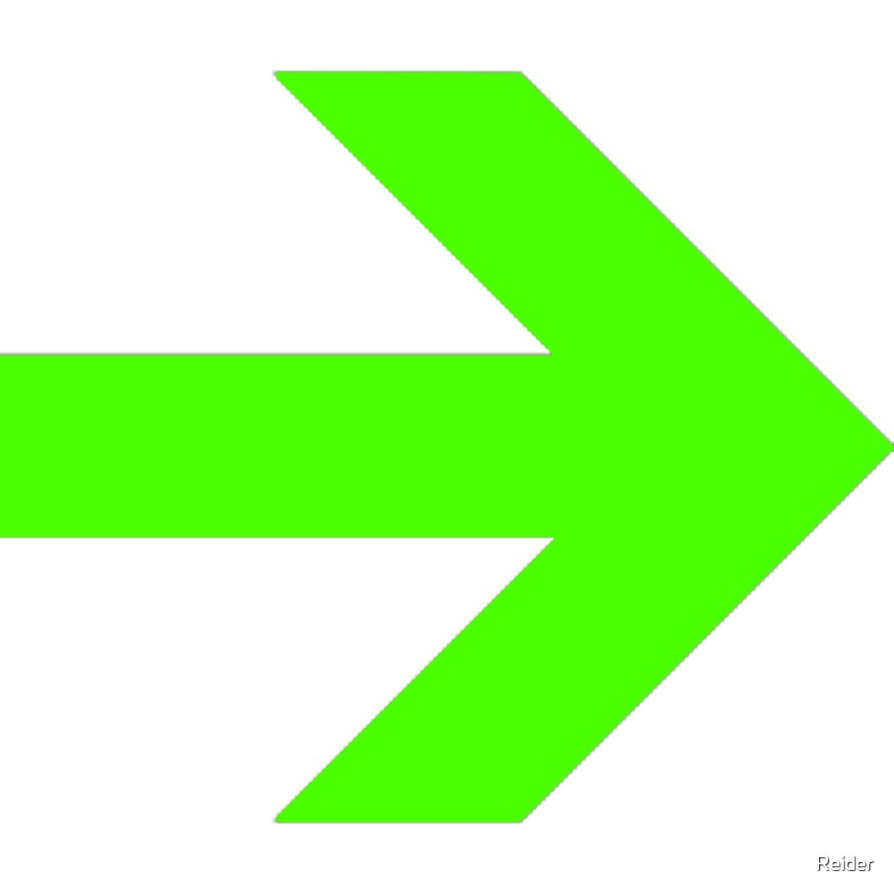 Lime Arrow Point By Reider Redbubble