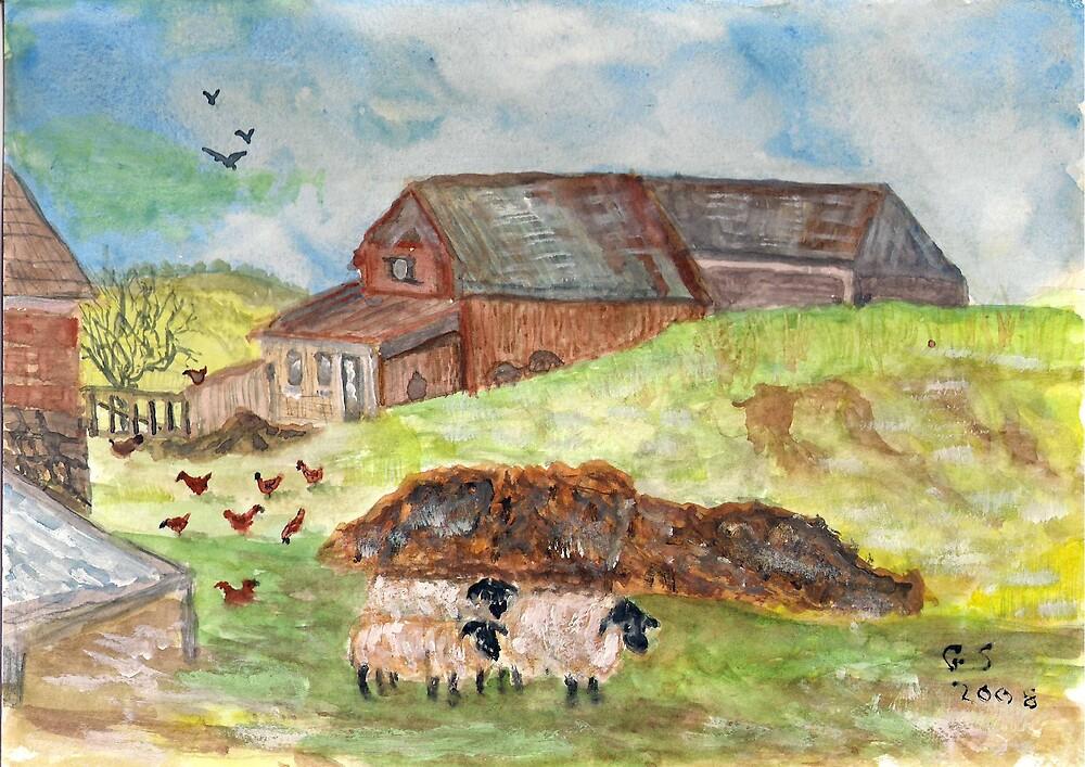 The Farm yard by GEORGE SANDERSON