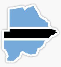 Flag Map of Botswana  Sticker