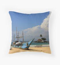 Catamaran and Temple Throw Pillow