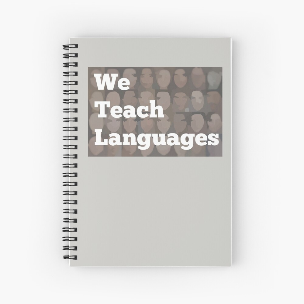 We Teach Languages Logo Swag Spiral Notebook