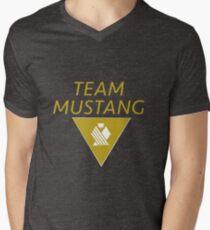 Team Mustang Men's V-Neck T-Shirt