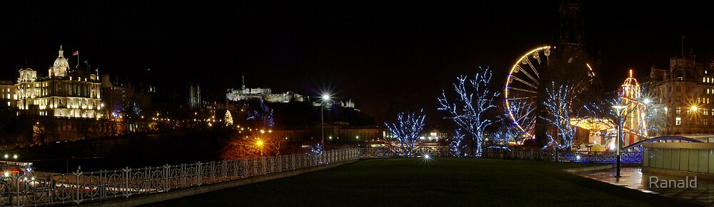 Edinburgh night by Ranald