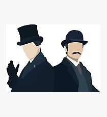 Sherlock Holmes and John Watson Photographic Print