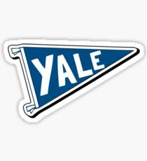 Yale Pennant Flag Sticker