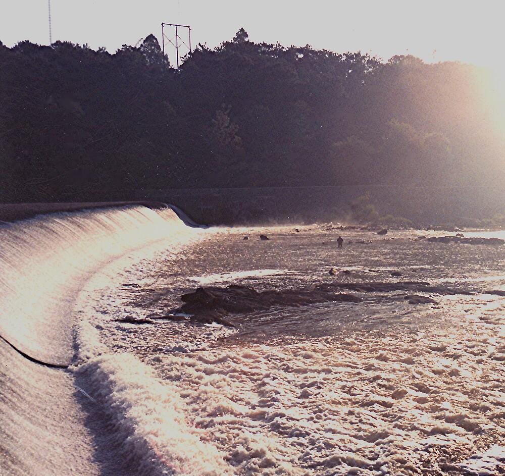 Flatrock Dam on the Schuylkill River by drumsandkeys