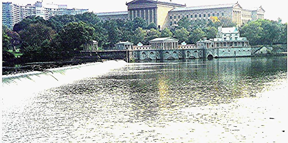 Fairmount Dam on the Schuylkill River in Philadelphia by drumsandkeys