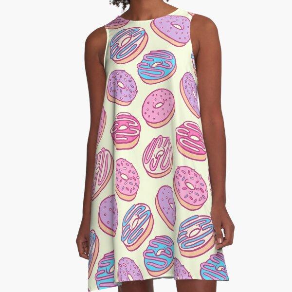 Pastel Donut Sticker Pack A-Line Dress