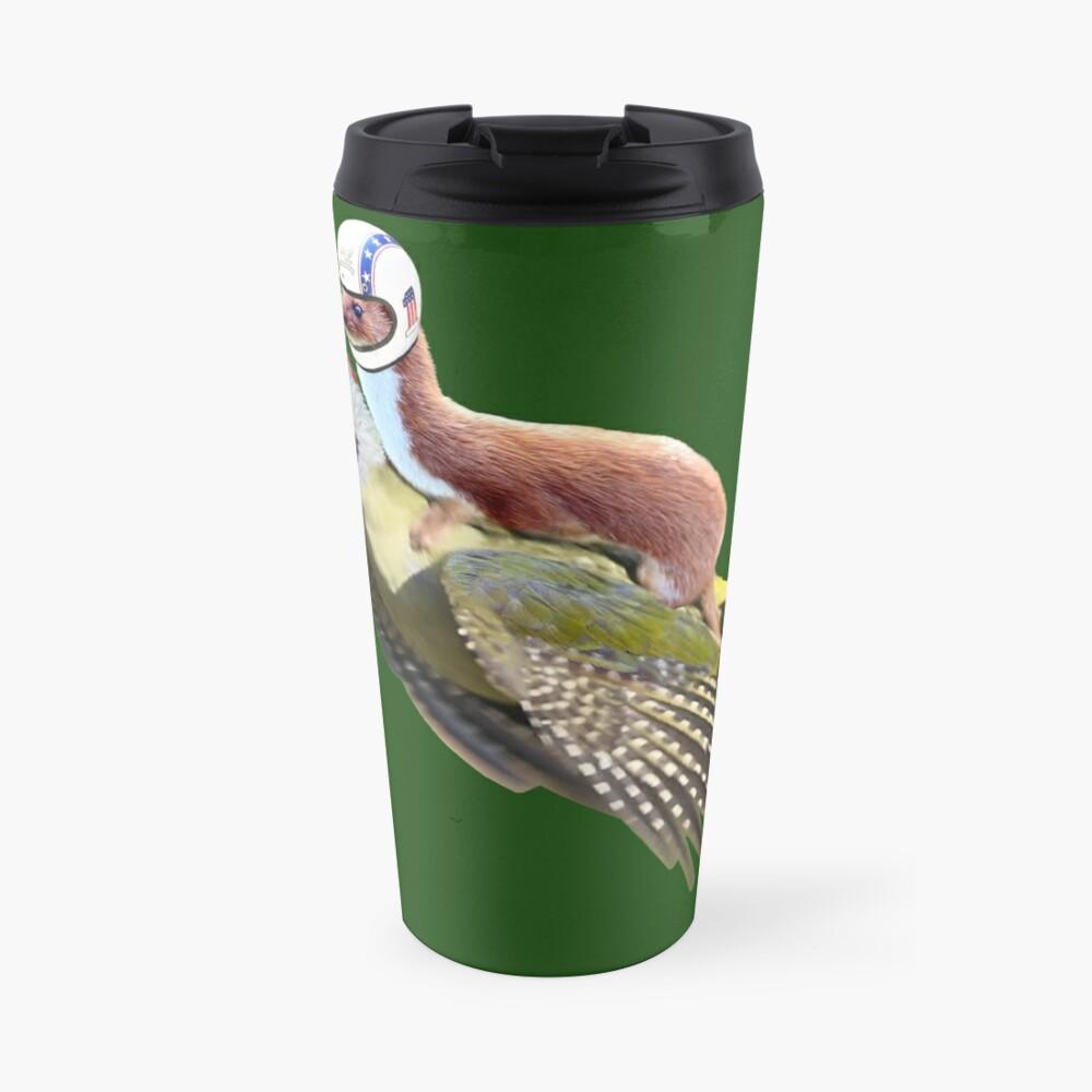 Flying Woodpecker Weasel Knievel Meme Travel Mug