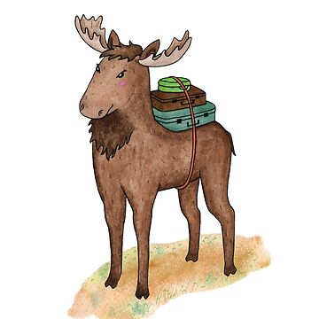 Elk with suitcases by AllaRi
