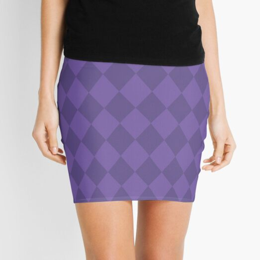 ULTRA VIOLET color of the year diamond pattern Mini Skirt