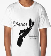 My Home, Nova Scotia Canada, Black Long T-Shirt